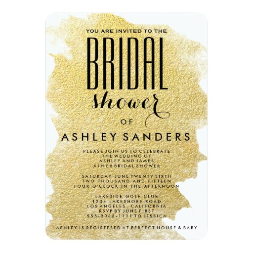 modern gold foil bridal shower invitation 5quot x 7