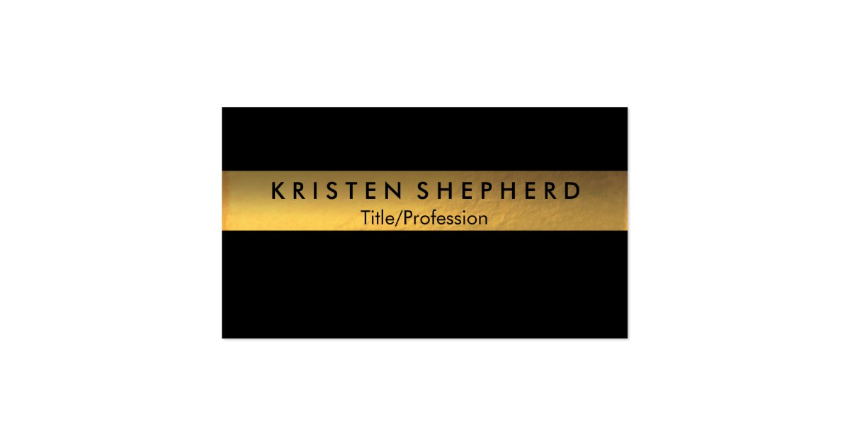 Modern Gold Foil Business Cards Black and Gold