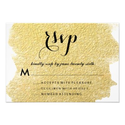 MODERN GOLD FOIL RESPONSE CARDS