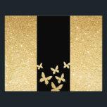 """Modern Gold Glitter Butterflies Trifold Brochure<br><div class=""""desc"""">Modern Gold Glitter Butterflies Trifold Brochure Flyers.</div>"""
