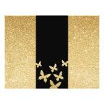 """Modern Gold Glitter Butterflies Trifold Brochure 8.5"""" X 11"""" Flyer"""