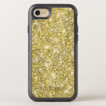 Hand shaped Modern Gold Glitter Cool Otterbox iPhone 7 Case