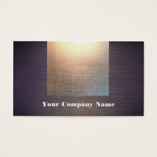 Modern Gold Glow and Wood Look Business Card