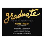 Modern Gold Graduate Typography Black Chevron Card