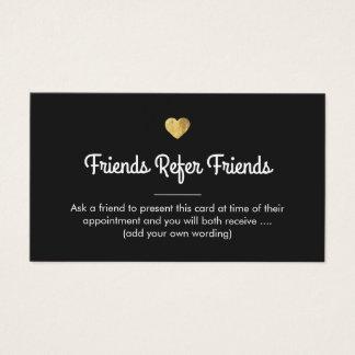 Modern Gold Heart Customer Referral Card