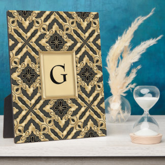 Modern Gold Lace Display Plaques