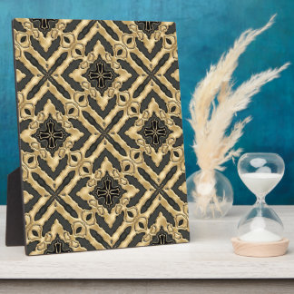 Modern Gold Lace Plaques