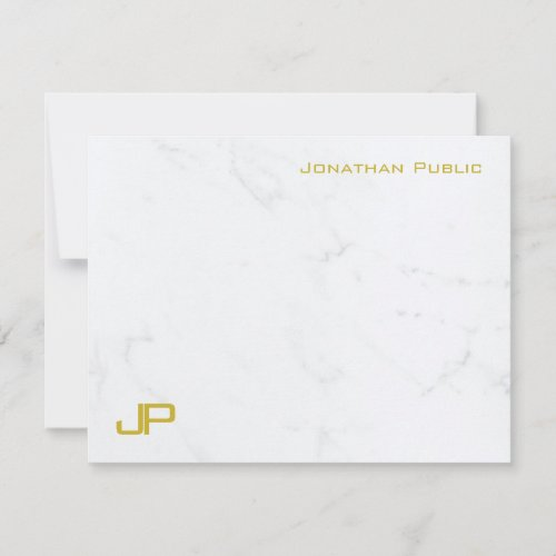 Modern Gold Marble Simple Template Personalized
