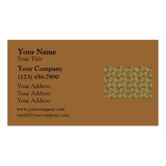 Modern Gold Metal Spirals Business Card