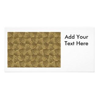 Modern Gold Metal Spirals Card