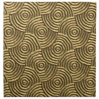 Modern Gold Metal Spirals Cloth Napkin