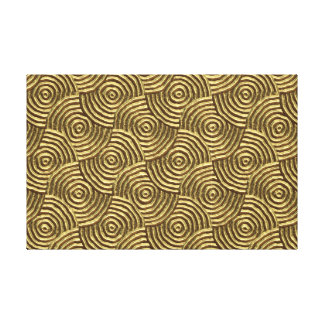 Modern Gold Metal Spirals Gallery Wrapped Canvas