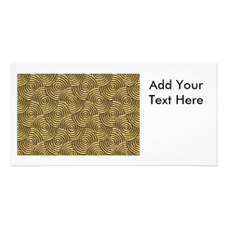 Modern Gold Metal Spirals Personalized Photo Card