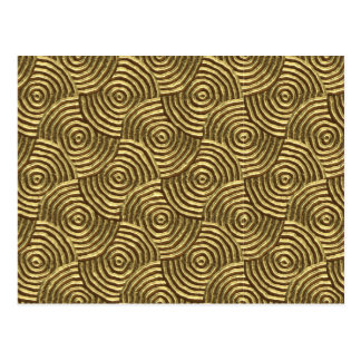 Modern Gold Metal Spirals Postcard