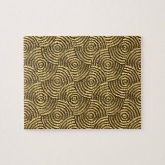 Modern Gold Metal Spirals Puzzles