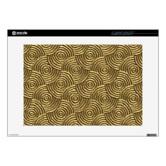 Modern Gold Metal Spirals Skins For Laptops