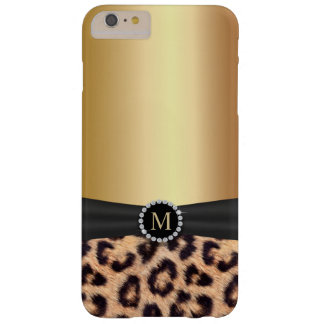 Modern Gold Monogram Leopard iPhone 6/6S Plus Barely There iPhone 6 Plus Case