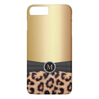 Modern Gold Monogram Leopard iPhone 7 Plus iPhone 7 Plus Case