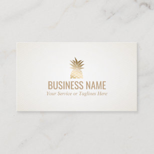 Event planning business cards zazzle modern gold pineapple logo event planning business card colourmoves