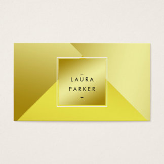 Modern Gold Polygon Geometric Contemporary Business Card