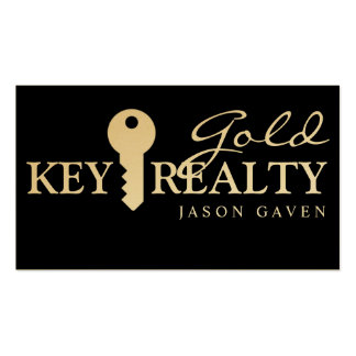 Modern Gold Realty Real Estate Realtor Business Double-Sided Standard Business Cards (Pack Of 100)