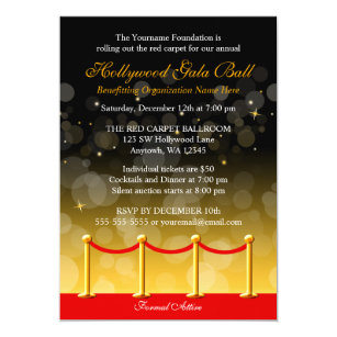 Gala Dinner Invitations Zazzle