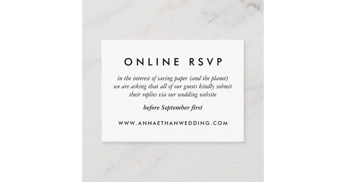 modern gold rings wedding online rsvp card