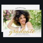 """Modern Gold Script 2018 Graduation Announcement<br><div class=""""desc"""">Create the perfect invite with this &quot;Modern Gold Script 2018 Graduation Announcement Photo Graduation Party Invitation&quot; template. This high-quality design is easy to customize to be uniquely yours! (1) For further customization, please click the &quot;customize further&quot; link and use our design tool to modify this template. (2) If you have...</div>"""
