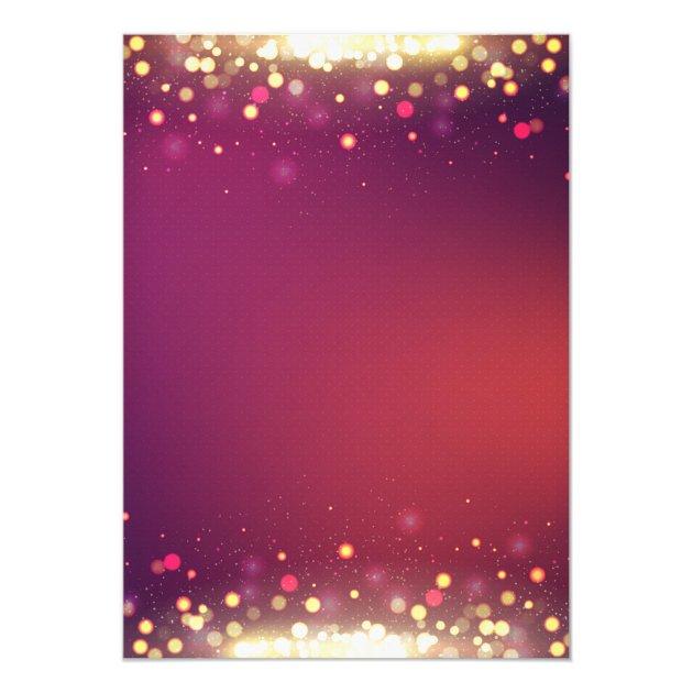 Modern Gold Shimmer Sparkles Wedding Bridal Shower Card (back side)