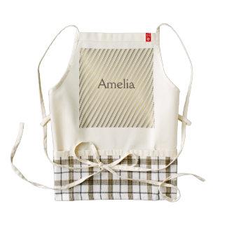 modern,gold,silver,diagonal,stripes,pattern,trendy zazzle HEART apron