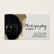 Modern Gold Stroke Photography Appointment Business Card