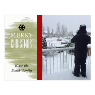 Modern Gold Swatch Holiday Photo Card