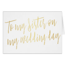 """Modern Gold """"To my sister on my wedding day"""""""