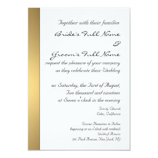 Modern gold wedding invitation template