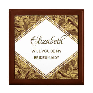 Modern Gold Will You Be My Bridesmaid Proposal Box