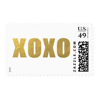 MODERN GOLD XOXO POSTAGE