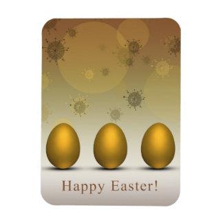Modern Golden Easter Eggs - Flexible Magnet