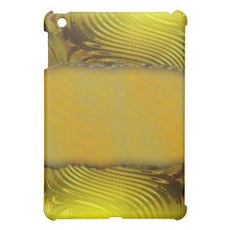 Modern golden label template text design iPad mini cover