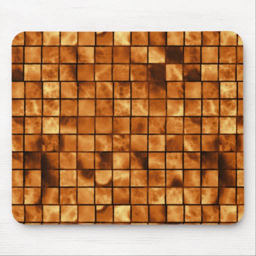 Modern Golden Squares Mouse Pad