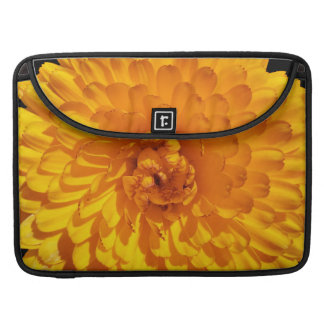 Modern Golden Yellow Marigold Flower Sleeves For MacBook Pro