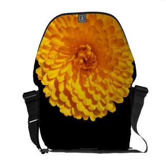 Modern Golden Yellow Marigold Flower Messenger Bag
