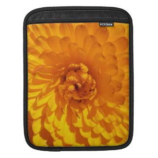 Modern Golden Yellow Marigold Flower Sleeve For iPads