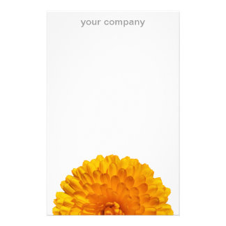 Modern Golden Yellow Marigold Flower Customized Stationery