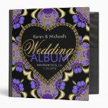 Modern Goth Purple Gold Wedding Album Binder