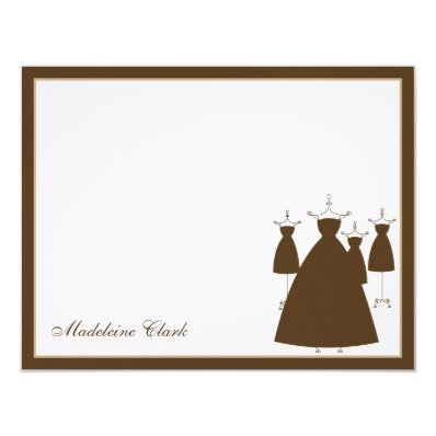 Modern Gowns Flat Thank You Card