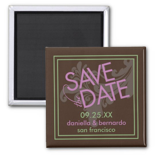 Modern Grace Save The Date Magnet