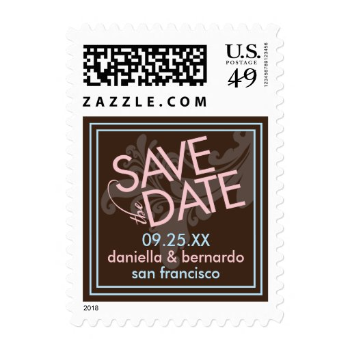 Modern Grace Save The Date Postage