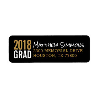 Modern Grad Personalized Return Address Label