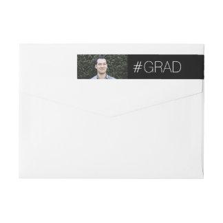 Modern Grad Wrap Around Label
