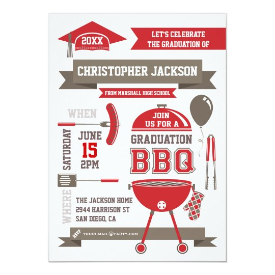 modern gradation bbq invitation zazzle com